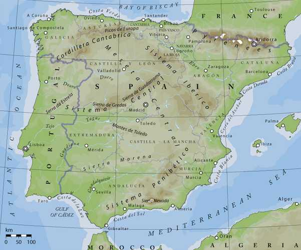 Ward On Wine Spring Class Series The Iberian Peninsula Spain - Portugal map iberian peninsula